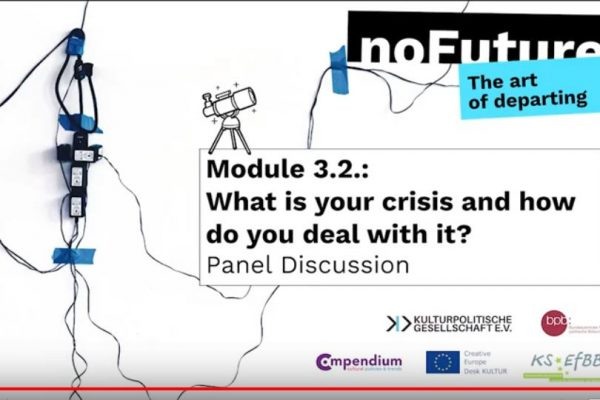 """Online panel discussion on """"What is our crisis and how do we deal with it?"""""""